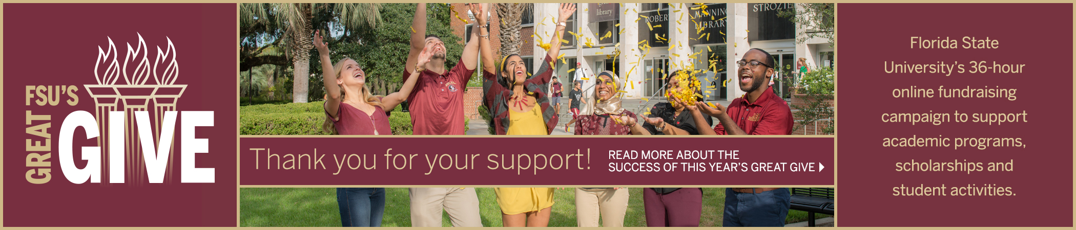 FSU's Great Give: Give Online Now!