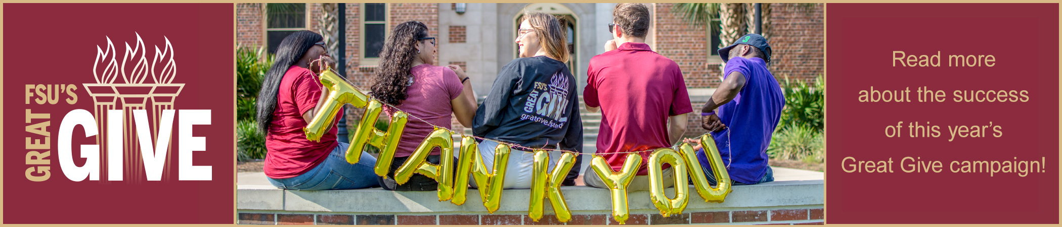 Thank you for your support of FSU's Great Give!